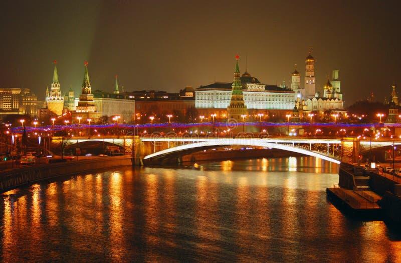 Mosca Kremlin Scena di notte fotografia stock