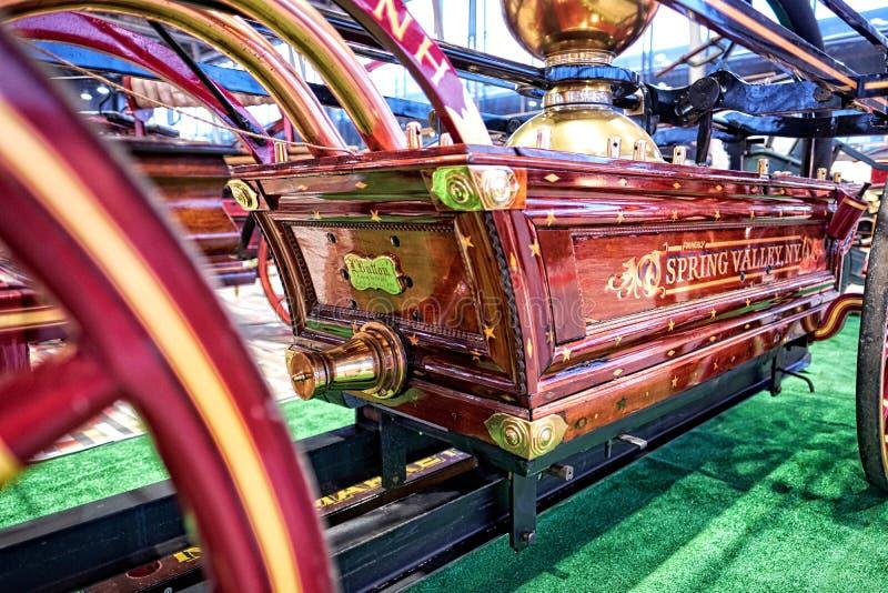 MOSCA - 9 MARZO 2018: Vagone L del fuoco Button e Company 1868 a fotografia stock