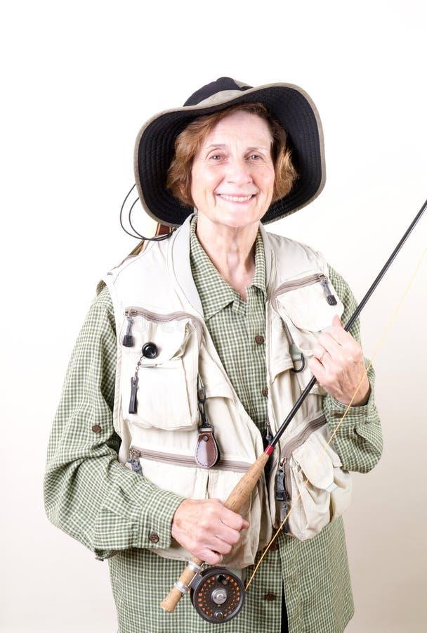 Mosca mayor Fisher de la mujer imágenes de archivo libres de regalías