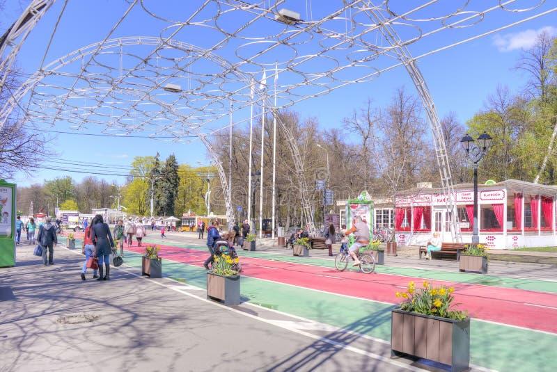 mosca Parco di Sokolniki fotografia stock libera da diritti