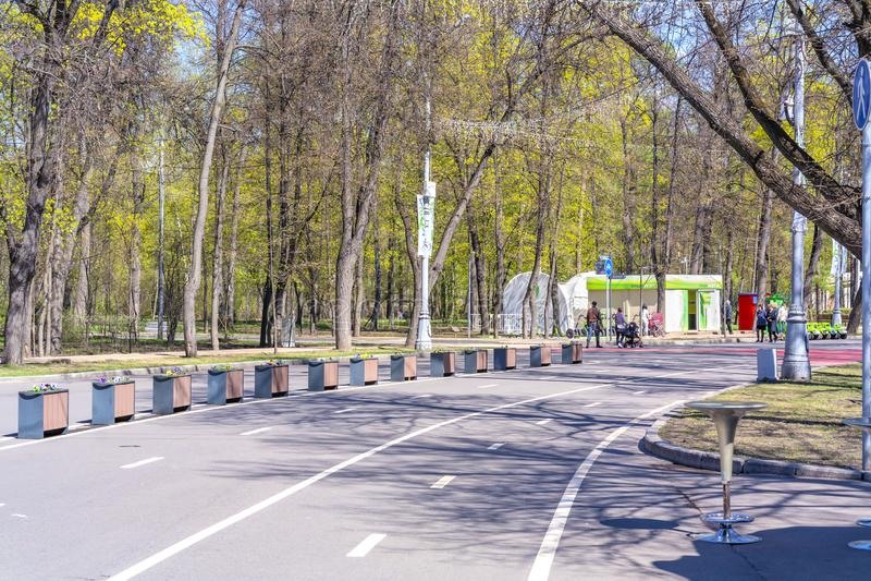 mosca Parco di Sokolniki immagini stock libere da diritti