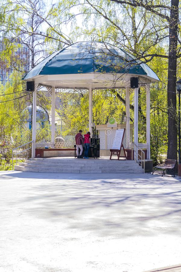 mosca Parco di Sokolniki immagini stock