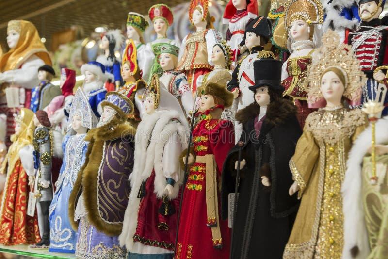 Mosca, Russia - 10 gennaio 2015 le bambole sono fotografia stock libera da diritti