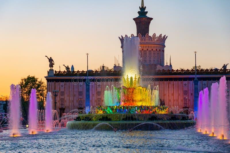 Mosca, Russia, il 30 aprile 2019: VDNH celebra il suo ottantesimo anniversario dal suo fondamento immagini stock