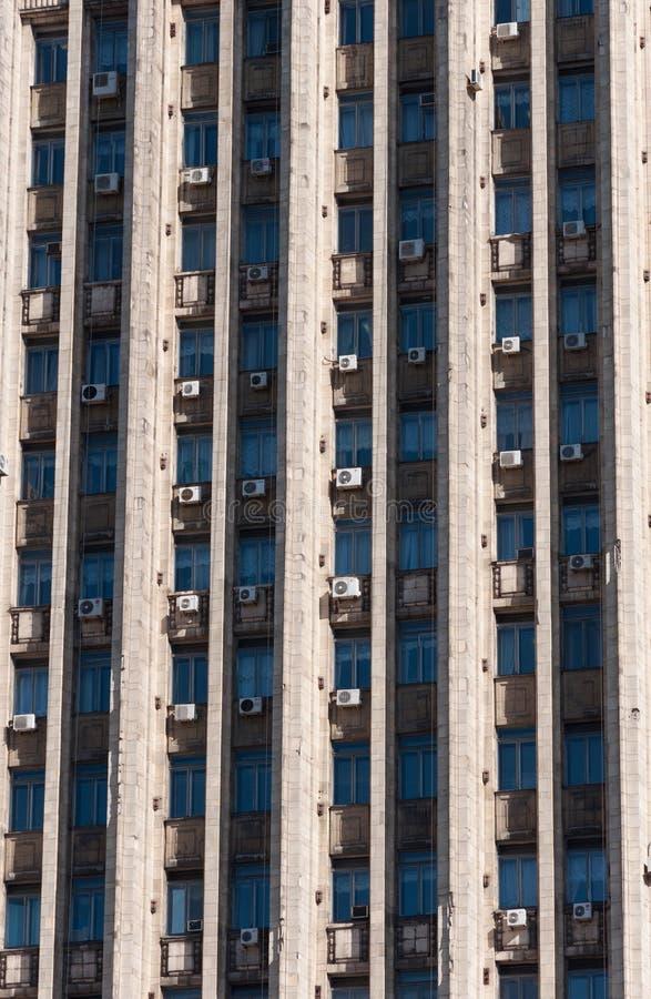 Mosca, Russia - 09 21 2015 Il ministero degli affari esteri di Federazione Russa Particolare della facciata immagini stock