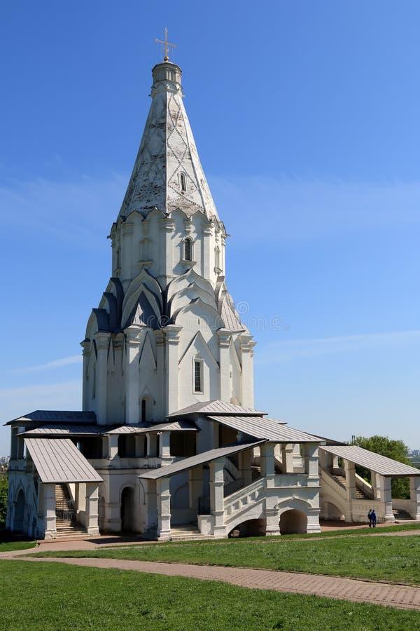Mosca, Russia - 11 maggio 2018: La chiesa dell'ascensione del signore nella Museo-riserva Kolomenskoye fotografia stock