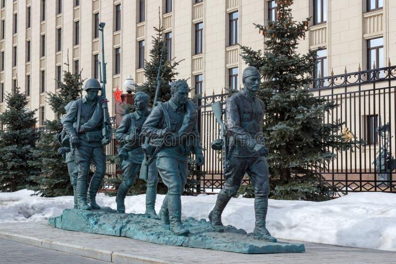 Mosca, Russia - 25 marzo 2018: Monumento agli eroi del film immagini stock
