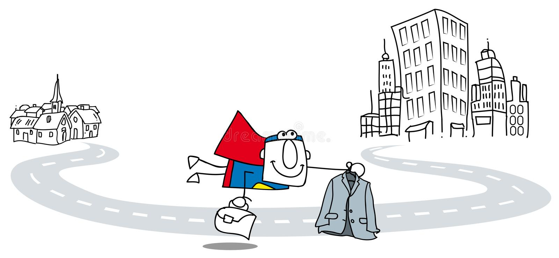 Mosca super do homem de negócio ilustração stock