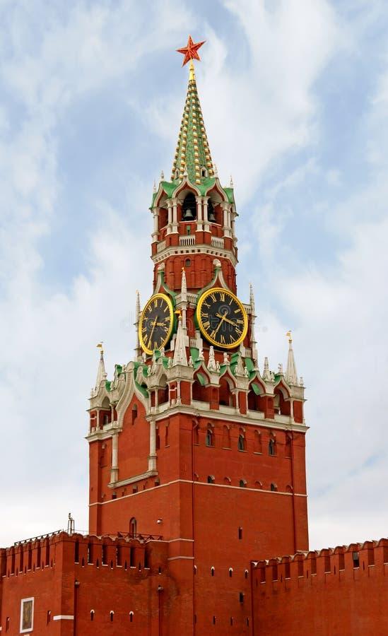 Mosca, torretta di Spasskaya immagine stock libera da diritti