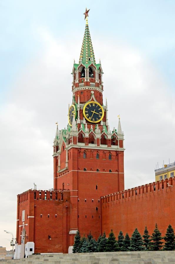 Mosca, torretta di Spasskaya fotografia stock