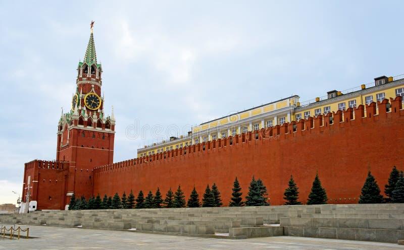 Mosca, torretta di Spasskaya e quadrato rosso fotografie stock