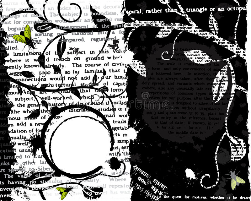 Mosca y texto Grunge ilustración del vector