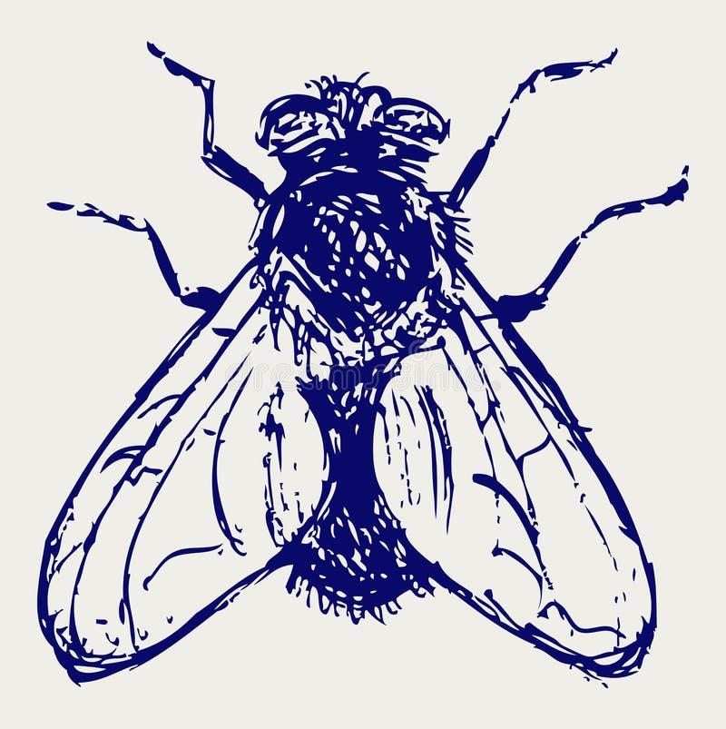 Download Moscas pretas ilustração do vetor. Ilustração de mosca - 26513745