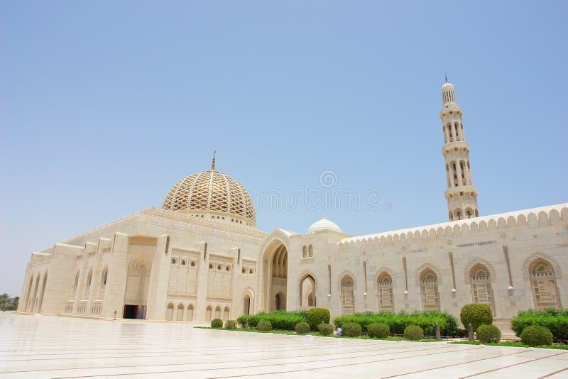 Moscato, Oman - moschea di Qaboos del sultano grande immagine stock