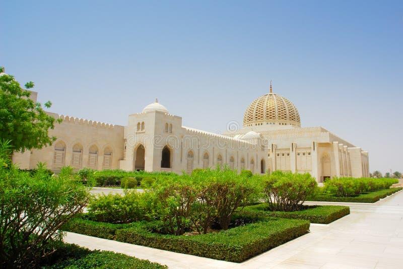 Moscato, Oman - moschea di Qaboos del sultano grande fotografia stock