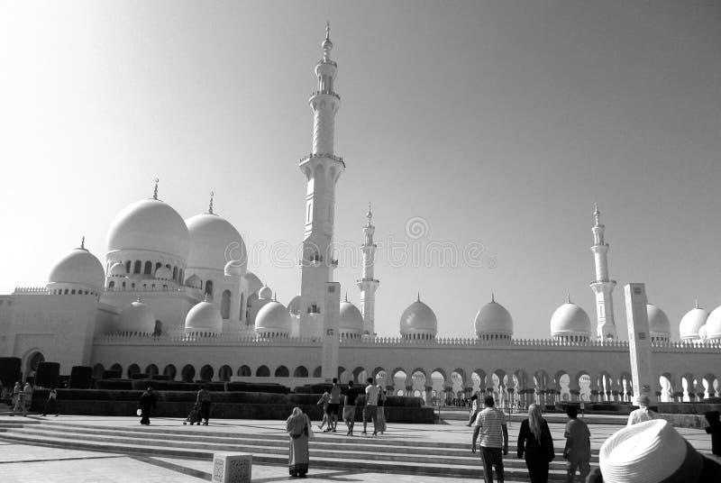 Moschea Abu Dhabi, UAE di Sheikh Zayed fotografia stock libera da diritti