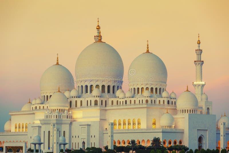 Moschea al tramonto immagini stock libere da diritti