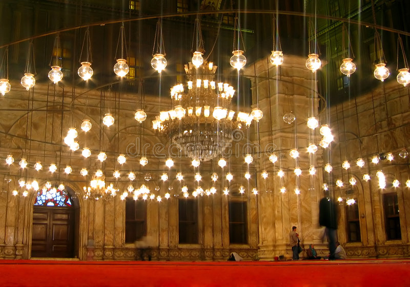 Moschea all'interno immagini stock