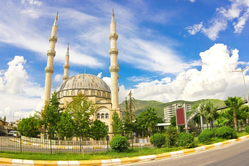 Moschea in Anamur fotografia stock libera da diritti