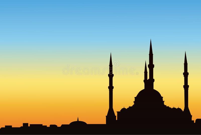 Moschea antica illustrazione di stock