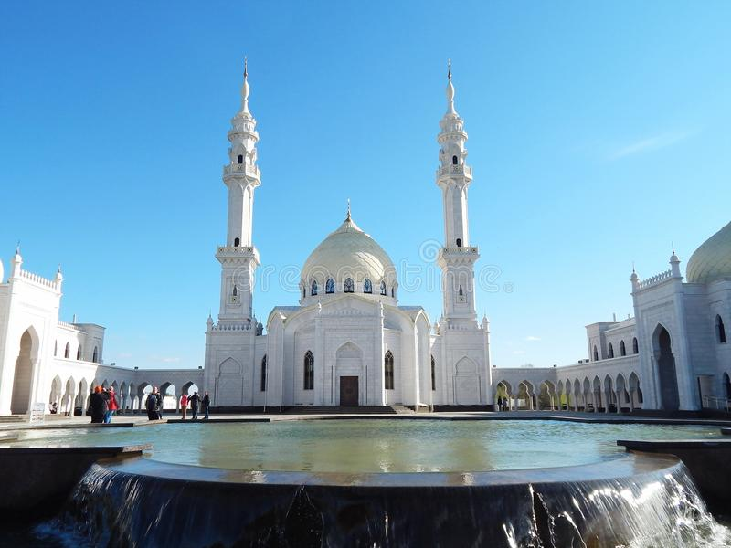 Moschea bianca in Bolgar nel Tatarstan, Russia immagini stock libere da diritti