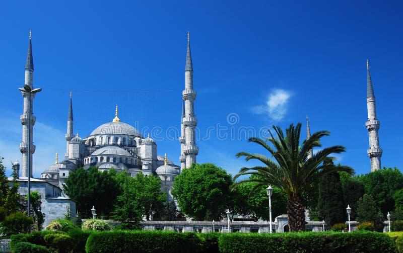 Moschea blu (Camii) Costantinopoli fotografia stock libera da diritti