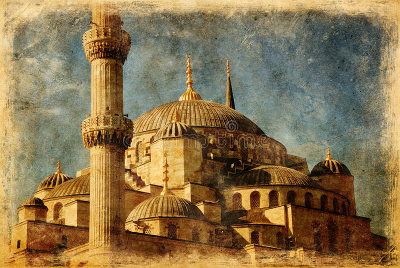 Moschea blu a Costantinopoli fotografia stock libera da diritti