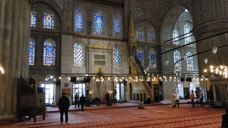 Moschea blu del ahmet del sultano, Costantinopoli in tacchino fotografia stock libera da diritti