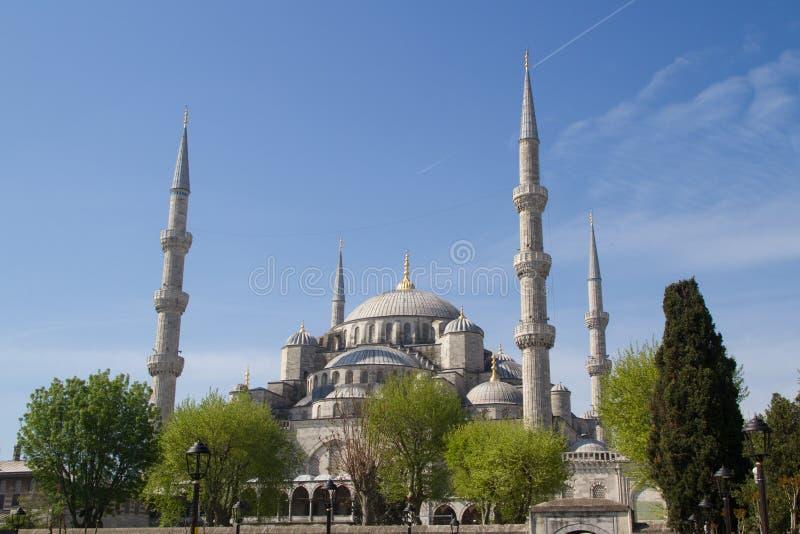 Moschea blu, Sultan Ahmed Mosque, Costantinopoli, Turchia immagini stock libere da diritti