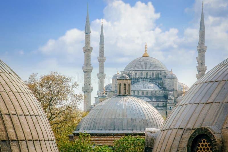 Moschea blu, tetto di Sultanahmet Camii a Costantinopoli, Turchia immagine stock libera da diritti