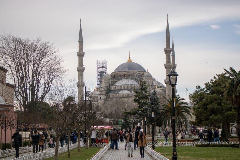 Moschea blu in Turchia fotografia stock