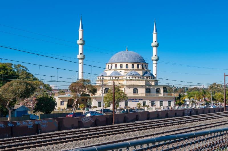 Moschea castana dorata di Gallipoli nel sobborgo di Sydney immagini stock
