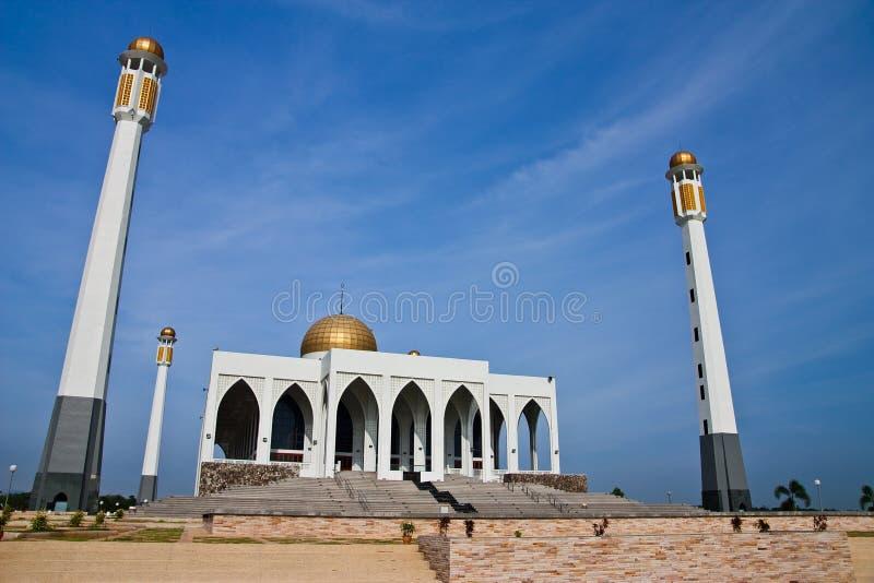 Moschea centrale della provincia di Songkhla, Tailandia fotografia stock libera da diritti
