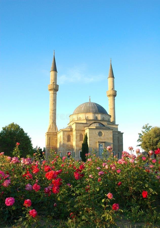 Moschea con due minareti fotografie stock libere da diritti
