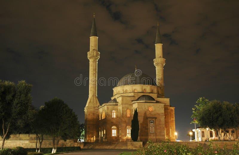 Moschea con due minareti a Ni fotografia stock libera da diritti