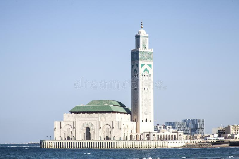 Download Moschea Del Hassan II A Casablanca Fotografia Stock - Immagine di architettura, atlantico: 117977716