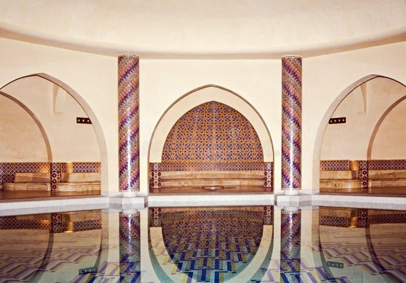 Moschea del Hassan II a Casablanca immagine stock libera da diritti