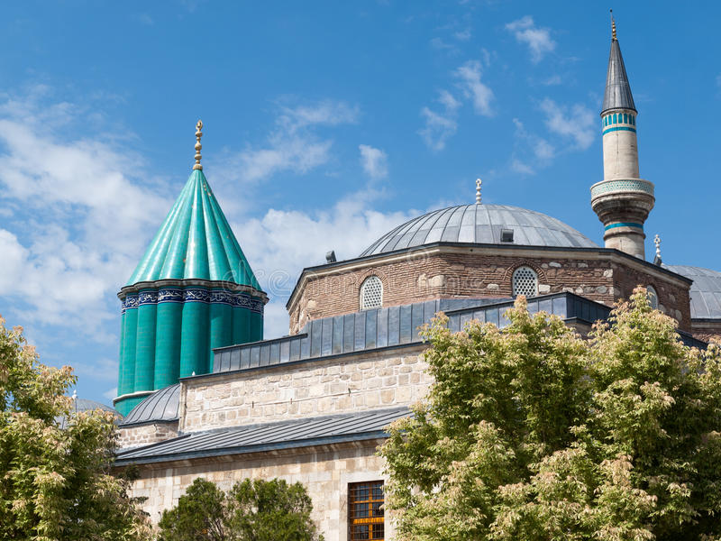 Moschea del museo di Mevlana in Konya immagini stock libere da diritti