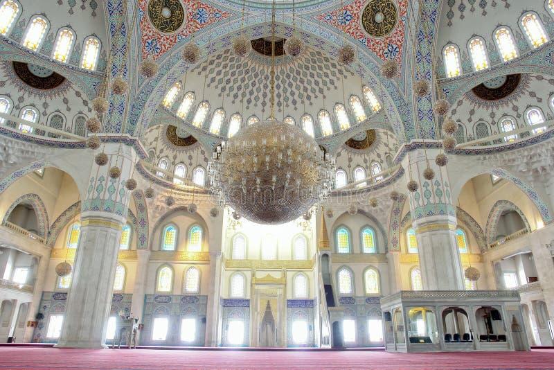 Moschea dell'interno fotografie stock libere da diritti