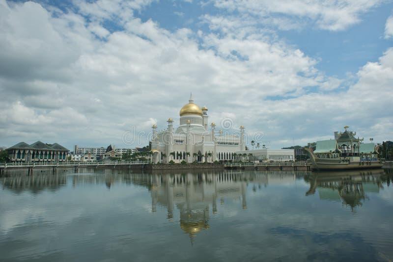 Moschea dell'Omar Ali Saifuddin del sultano immagini stock