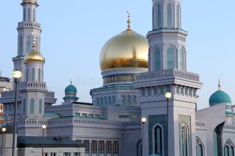Moschea della cattedrale di Mosca, Russia -- la moschea principale a Mosca immagini stock libere da diritti