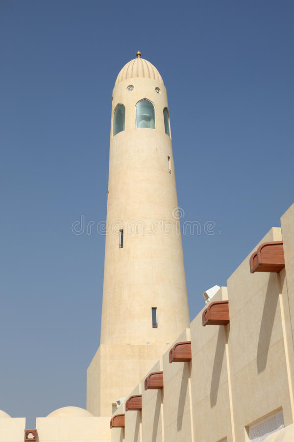 Moschea della condizione del Qatar la grande immagini stock libere da diritti