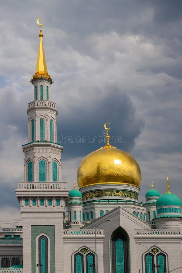 Moschea della mussola della cattedrale di Mosca La moschea principale di Mosca immagine stock libera da diritti