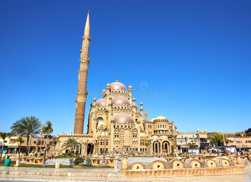Moschea dello Sharm el-Sheikh nella vecchia città immagini stock libere da diritti