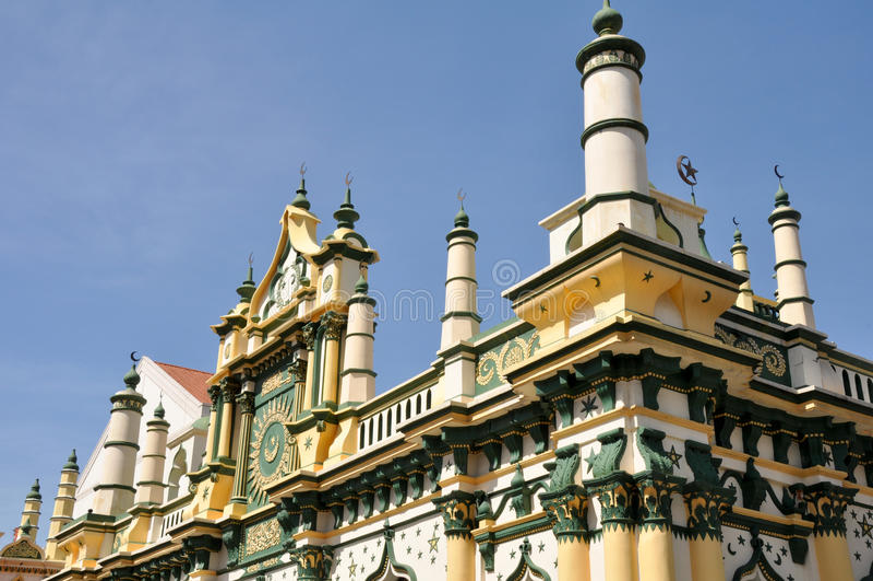 Moschea di Abdul Gafoor, Singapore immagini stock libere da diritti