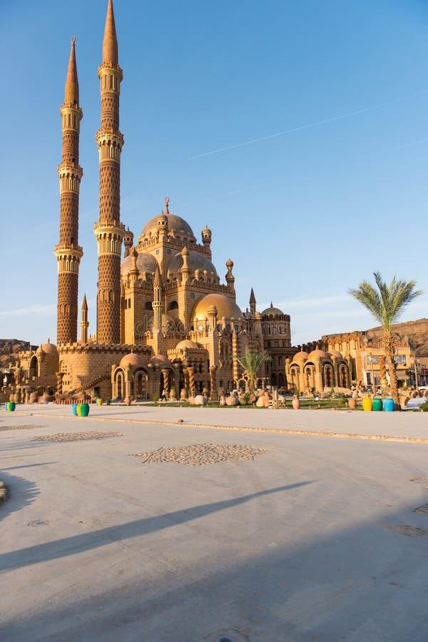 Moschea di ABeautiful in Sharm el-Sheikh fotografia stock libera da diritti