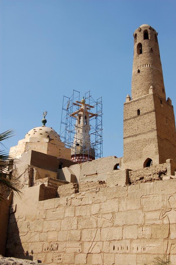 Moschea di Abu Haggag, Luxor fotografia stock