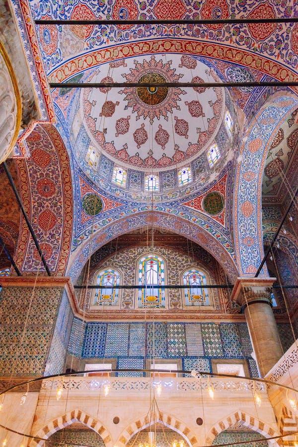 Moschea di Ahmed del sultano o moschea blu, Costantinopoli, Turchia fotografia stock libera da diritti