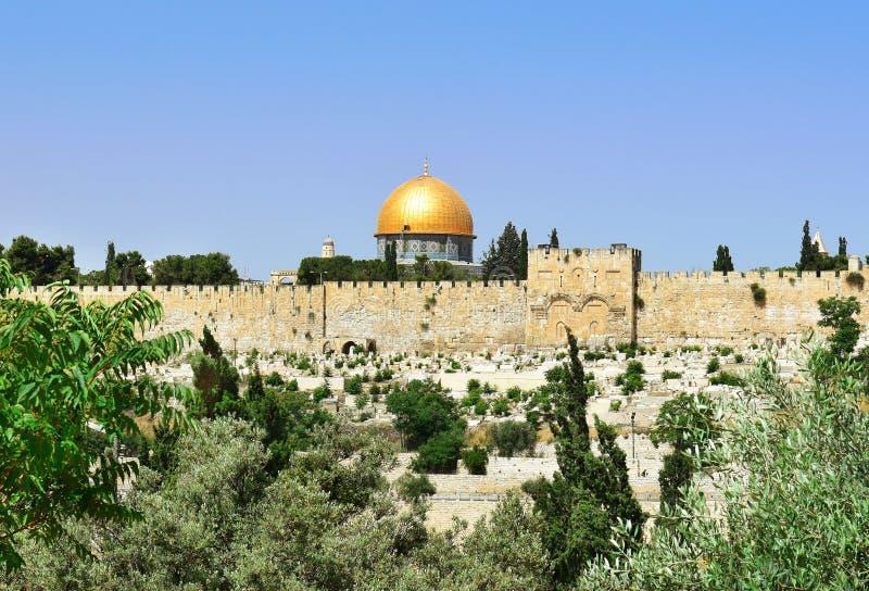 Moschea di Al-Aqsa e Golden Dome della roccia, Gerusalemme fotografie stock