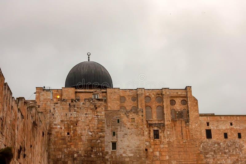 Moschea di Al-Aqsa in vecchia città di Gerusalemme, Israele fotografie stock